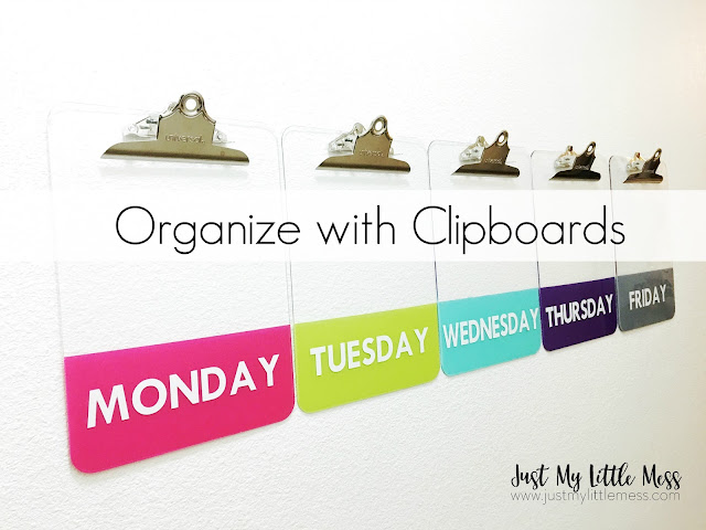 Organize With Clipboards Just My Little Mess
