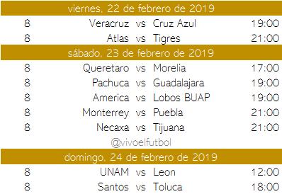 Calendario Futbol 2019.Calendario Del Clausura 2019 Del Futbol Mexicano Apuntes De Futbol
