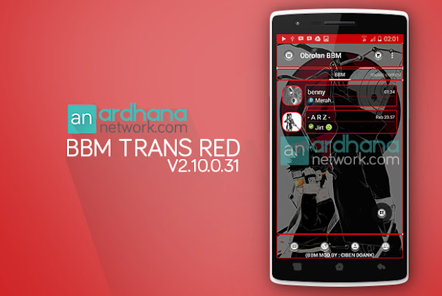 BBM Transparent Red