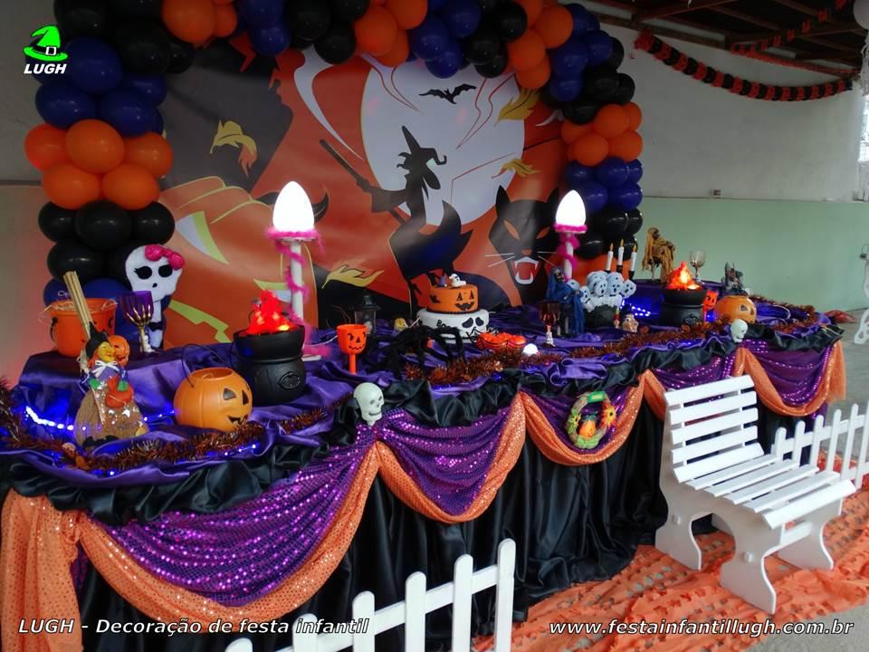 Decoraç u00e3o tema Halloween para festa infantil Festa Infantil Lugh # Decoracao De Festa Infantil Tema Halloween