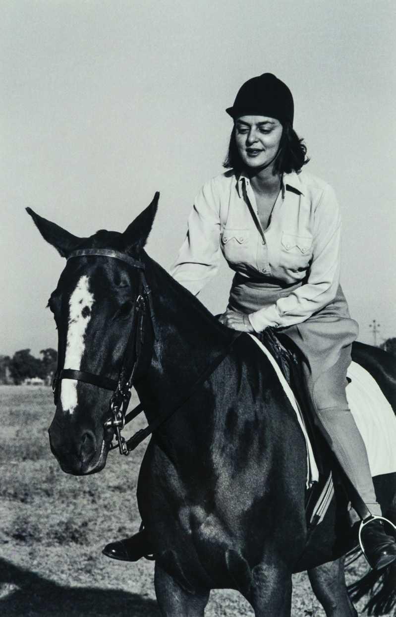Maharani Gayatri Devi on her horse