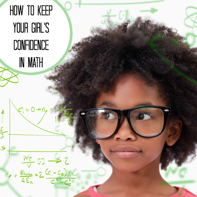 How do you help your girl to keep her confidence in her math abilities?