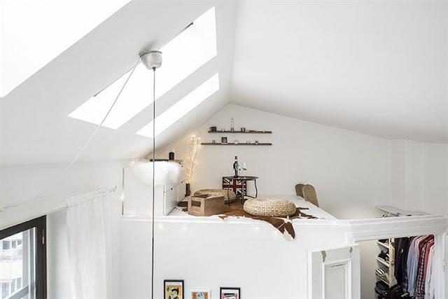 Altillo - Agradables detalles en tono pastel para este precioso mini piso nordico