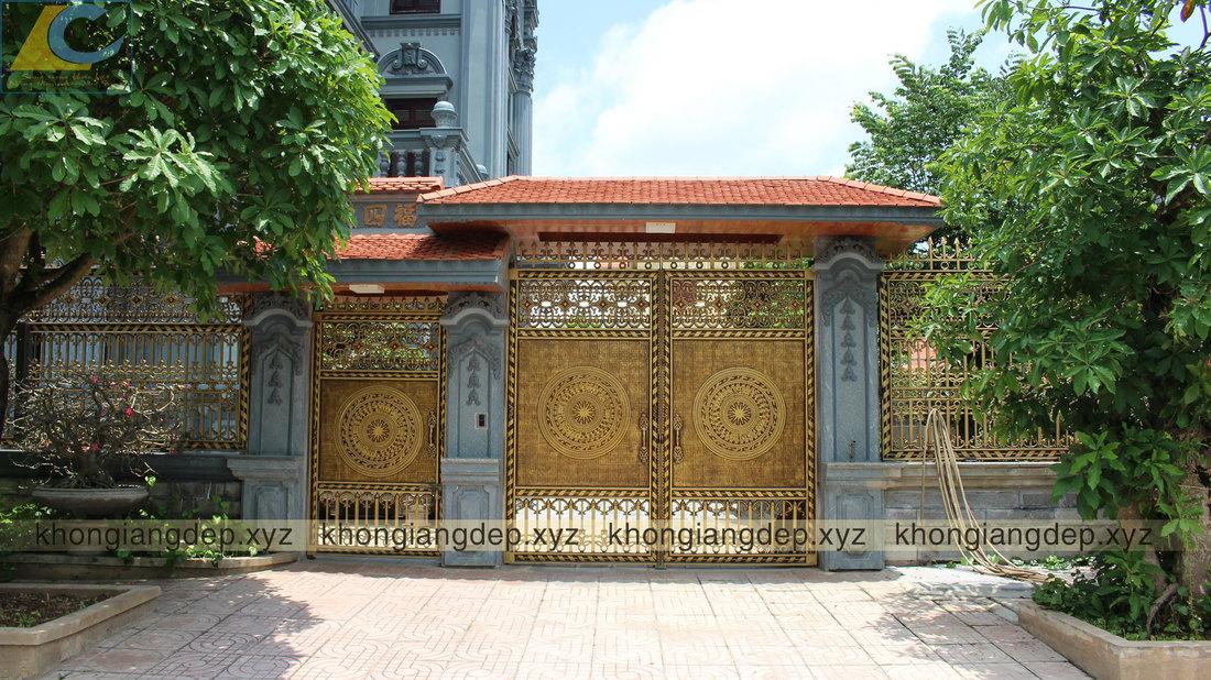 cổng hoa văn trống đồng