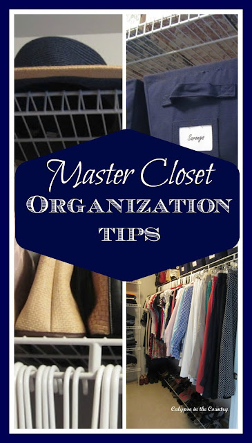 Master Closet Organization Tips - A few simple and inexpensive changes you can make.