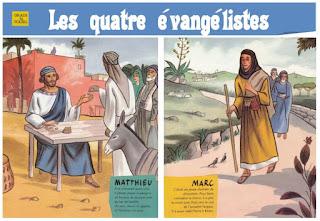 fiche 4 evangelistes en couleur