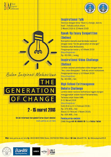 "Event Bulan Inspirasi Mahasiswa ""The Generation of Change"" 2018"