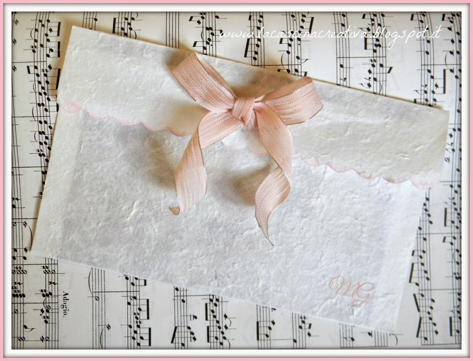 Buste Carta Riso.La Cascina Creativa Busta In Carta Di Riso Dal Sapore Classico