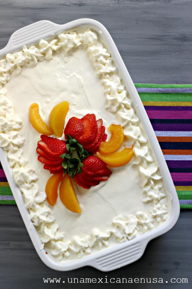 Pastel de tres leches fácil by www.unamexicanaenusa.com
