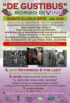De Gustibus 2 Luglio Malegno (BS)