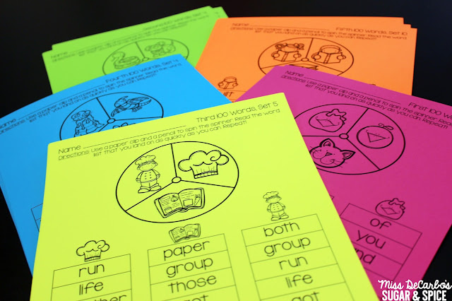 Sight Word Spinners: Using Small Group Warm Ups To Maximize Your Time At The Small Group Table: Tips For Elementary Small Group Instruction