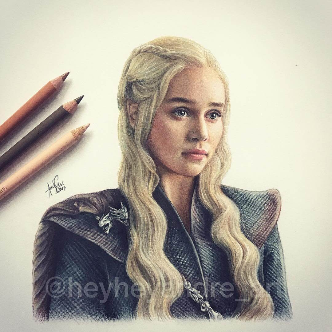 04-Daenerys-Khaleesi-Emilia-Clarke-A-Manguba-Drawings-of-Celebrities-and-the-Zodiac-www-designstack-co