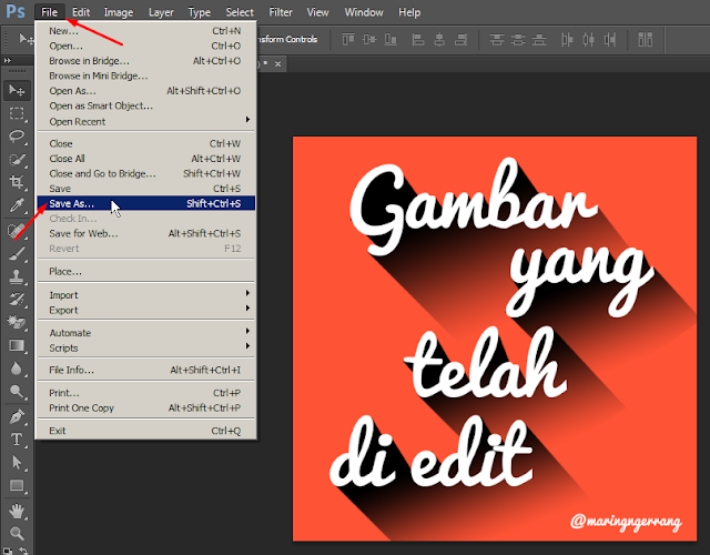 Cara Export Foto di Photoshop