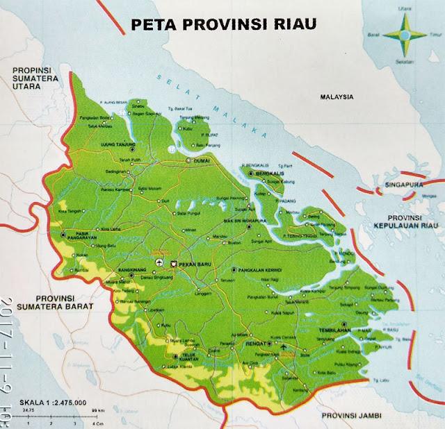 Gambar Peta Provinsi Riau