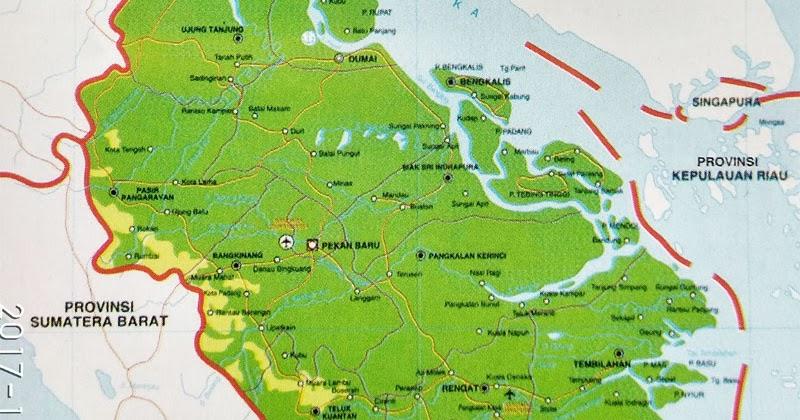 letak geografis provinsi riau lengkap peta sejarah