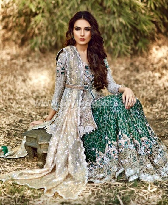 635b60e2660217 ... Latest Peplum Frocks With Cigarette Pants Tulip Pants: Latest Pakistani  Short Frocks Designs 2018