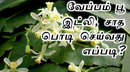 வேப்பம் பூ இட்லி, சாத பொடி செய்வது எப்படி? Tamil Samayal, veppam poo idly podi sadha podi recipe in tamil