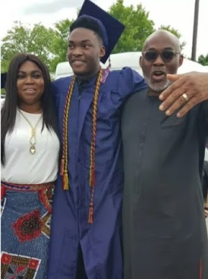 Veteran Actor Cum Politician, RMD and his wife, Jumobi, attend their son's graduation in the US (Pics)