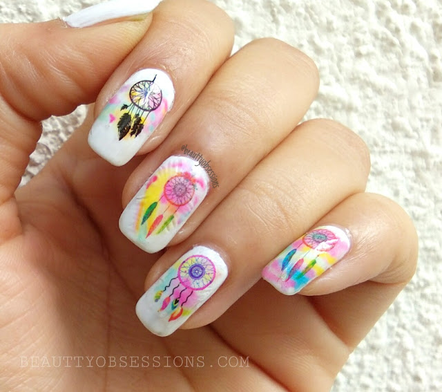 Dreamcatcher Nailart Tutorial by Beauty Obsessions blog