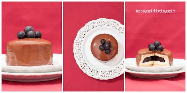 Tortine al cioccolato ed uva fragola