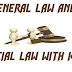 General and Special Law and its Kinds