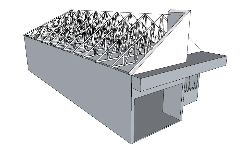 Rangka Baja Ringan Atap Miring 29 Plafon