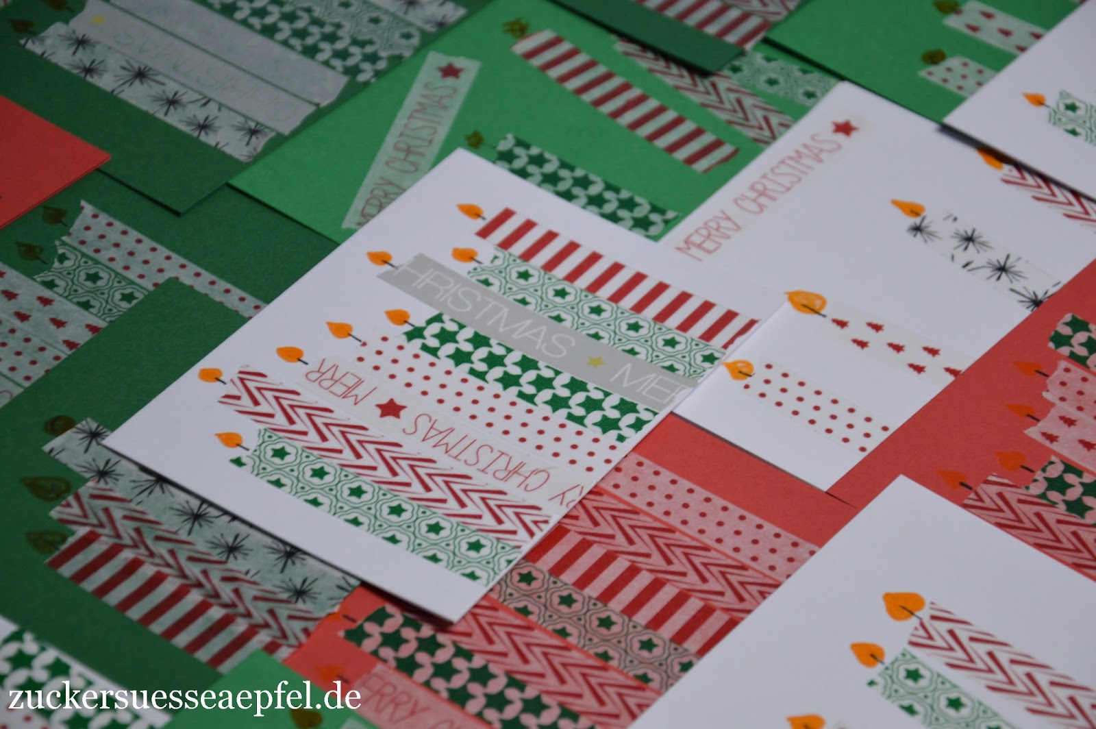 kinderleichte weihnachtskarten mit masking tape selbst gemacht zuckers e pfel kreativer. Black Bedroom Furniture Sets. Home Design Ideas