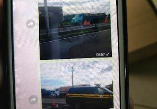 Caminhoneiro é preso após enviar fotos