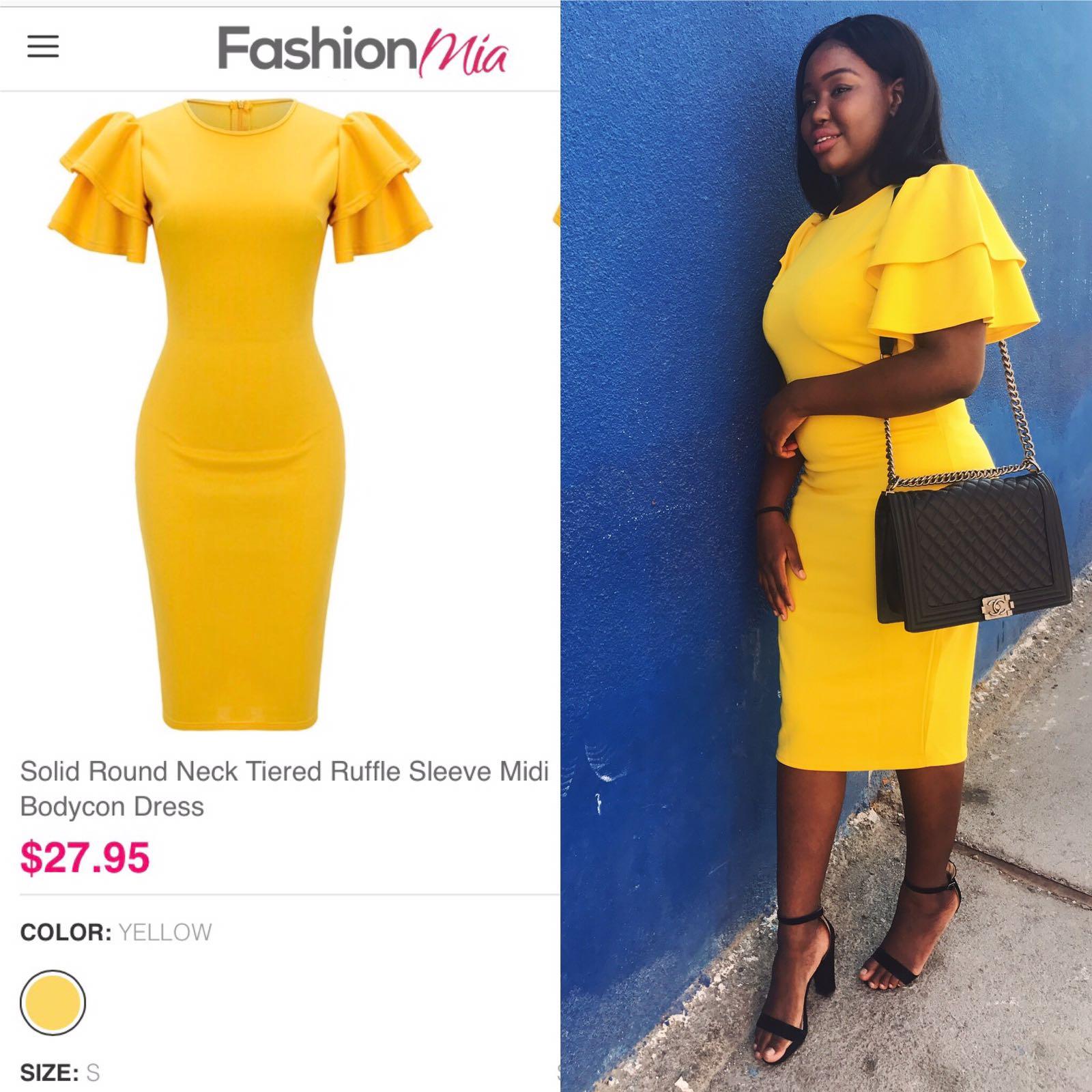 fashion mia yellow midi dress dateswithdanie
