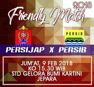 Jadwal Persijap Jepara vs Persib Bandung Jumat 9 Februari 2018. Pertandingan Uji Coba.