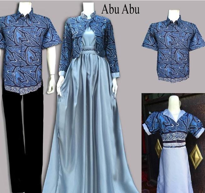 Model Baju Muslim Gamis Batik: 29 Model Gamis Batik Kombinasi Polos 2019