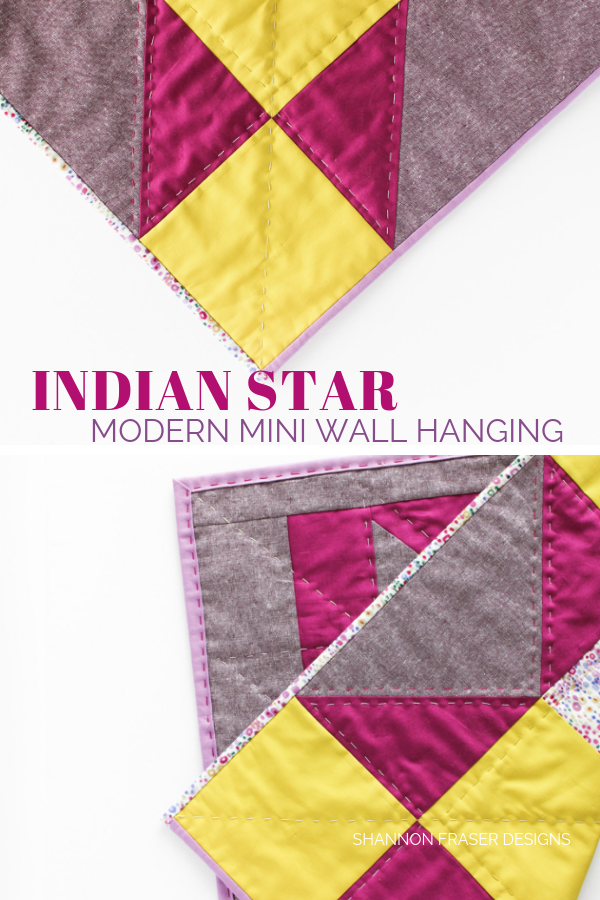 Indian Star Mini Quilt | Q2 Finish-a-long 2019 Proposed Projects | Shannon Fraser Designs