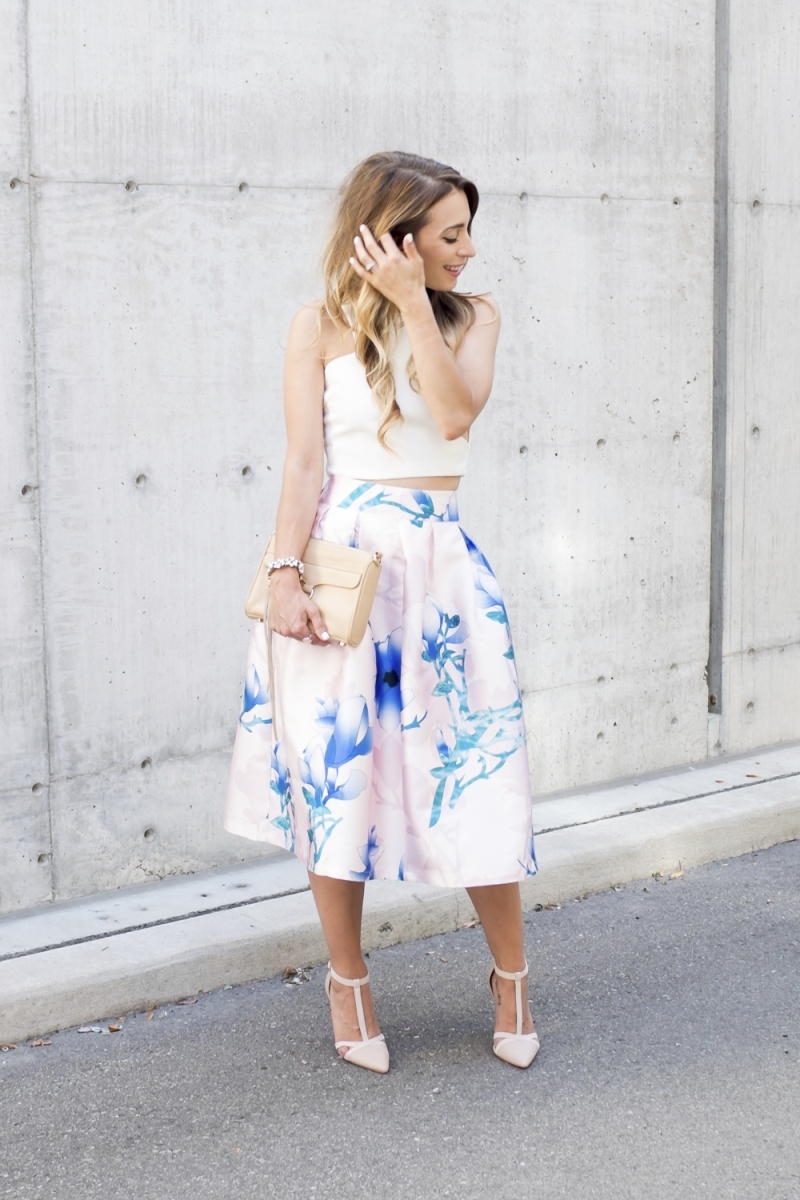 Party Frock: Gorgeous Midi Skirts for Spring - via BirdsParty.com