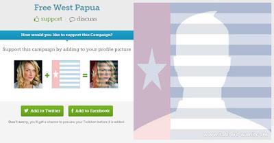 Himbauan! Orang Papua Ganti Foto Profil Facebook Anda, Menuju HUT West Papua 1 Desember