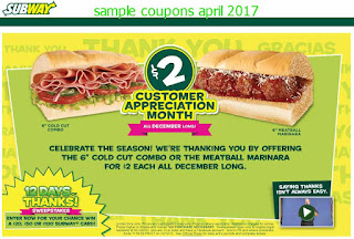 Subway coupons april 2017