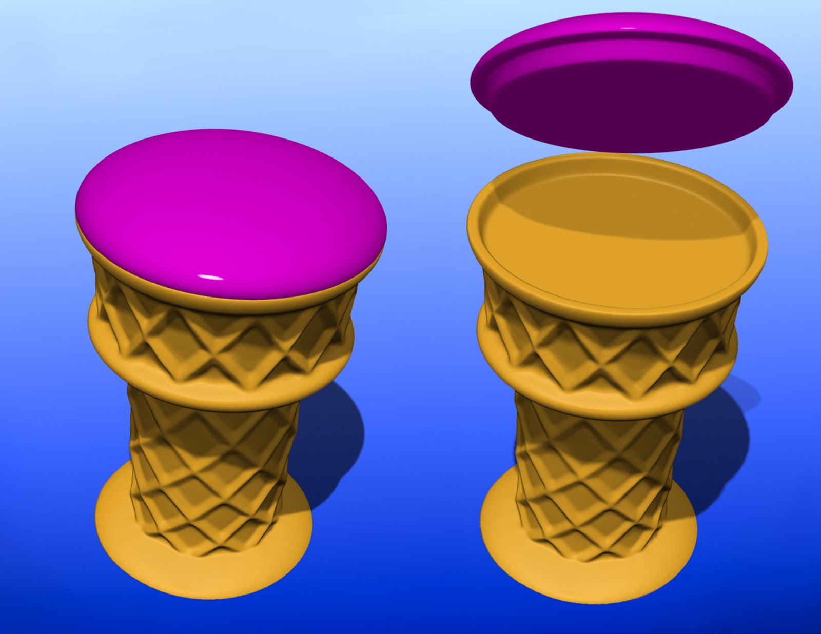 Ice Cream Cone Bar Stool