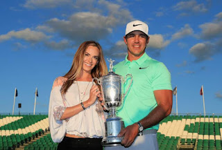 Brooks Koepka and his girlfriend Jena Sims