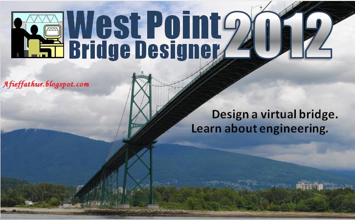 Aplikasi Sipil Desain Jembatan West Point Bridge Designer Afief