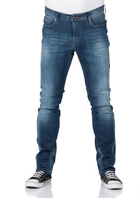 Mustang Herren Jeans Vegas - Slim Fit - Blau - Super Stone