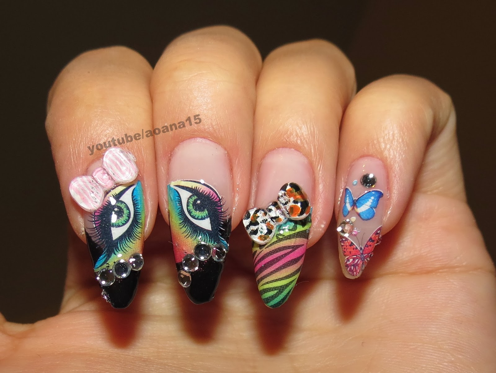 The gallery for --> Nail Designs With Bows And Diamonds