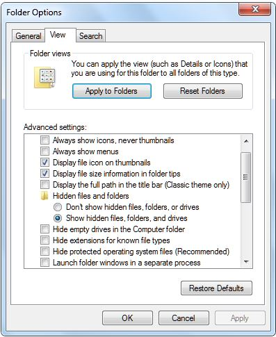 How to locate and delete cookies, cache, history and temporary internet files