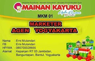 Marketer Mainan Kayuku Yogyakarta Erni