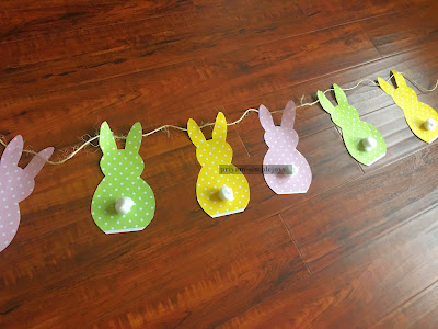 DIY Bunny Banner, shared by Simple Joys at the Clever Chicks Blog Hop