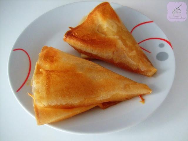 Croustillants aux poires et au caramel au beurre salé
