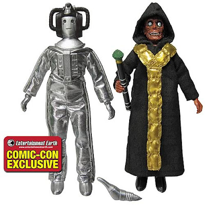 "San Diego Comic-Con 2011 Exclusive Doctor Who Cyberleader & The Master 8"" Mego Style Action Figures by Bif Bang Pow!"