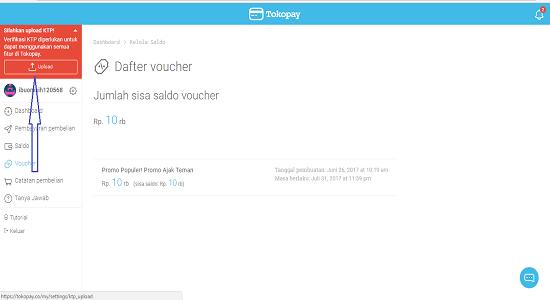 Cara Verifikasi Identitas dengan Upload KTP di Tokopay