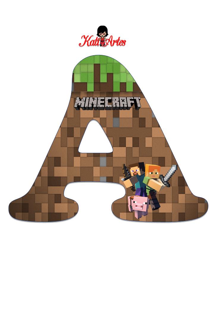 Molde De Letras E Numeros Minecraft Para Imprimir Mimo Kids