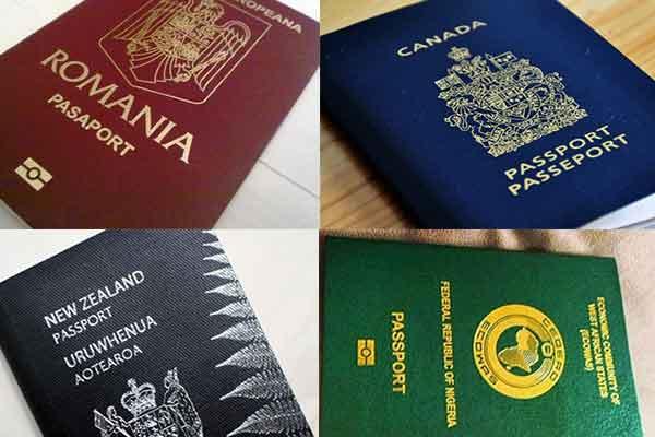 culorile pasapoartelor din intreaga lume