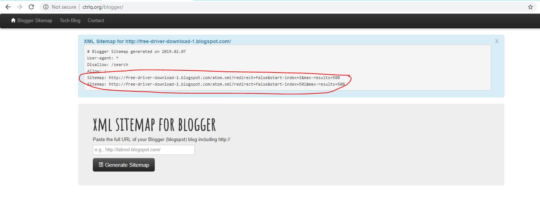 Ctrlq Blogger sitemap