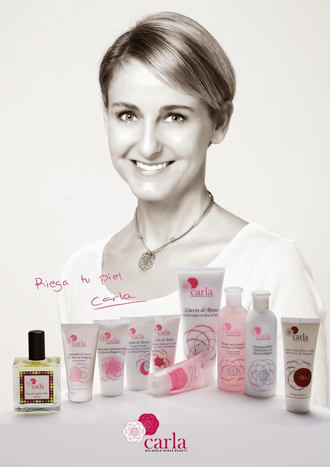 línea cosmética carla de bulgaria roses beauty